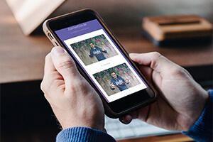 Fotobox bilder auf dem Smartphone